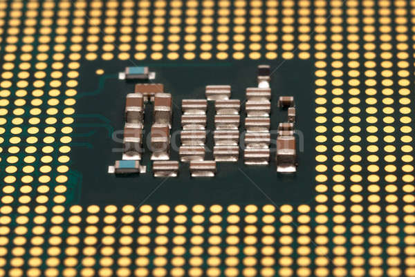 Electronic collection - CPU isolated on white background Stock photo © nemalo