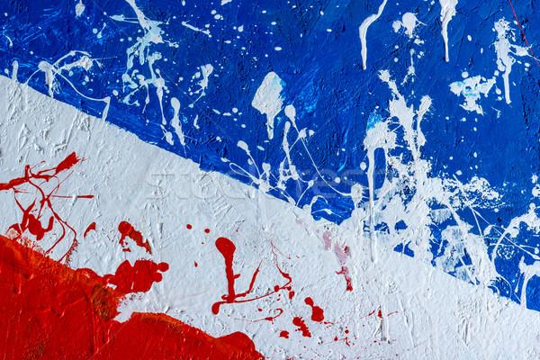 Stockfoto: Achtergronden · collectie · verf · geschilderd · houten