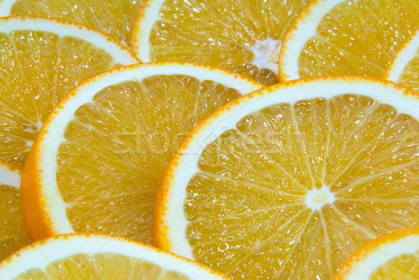Lédús narancs vág étel háttér csoport Stock fotó © nemalo
