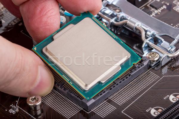 Elektronik toplama montaj işlemci modern cpu Stok fotoğraf © nemalo