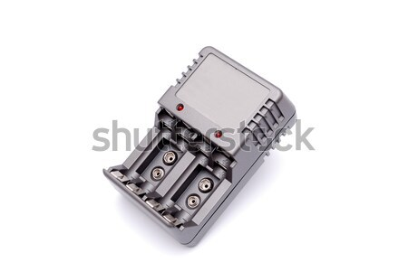 Accu battery charger on a white background Stock photo © nemalo