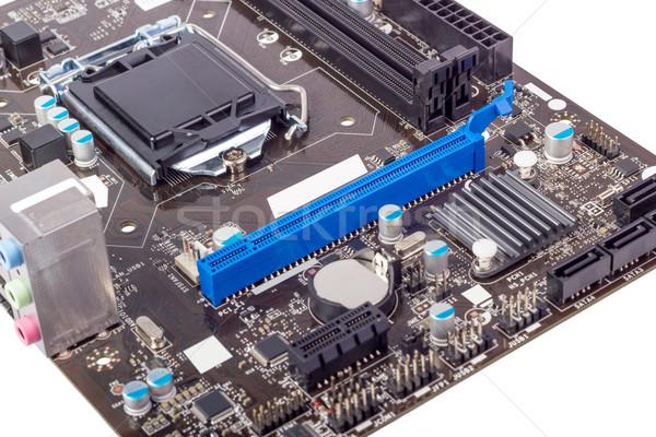 электронных коллекция компьютер платы процессор изолированный Сток-фото © nemalo