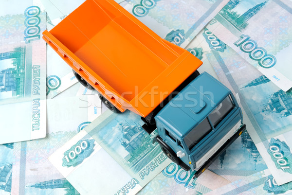 Carro dinheiro brinquedo notas abstrato assinar Foto stock © nemalo