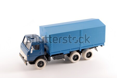 Collection scale model of the blue truck Stock photo © nemalo