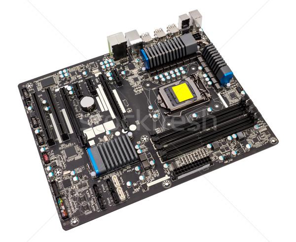 Elektronische collectie computer moederbord cpu geïsoleerd Stockfoto © nemalo