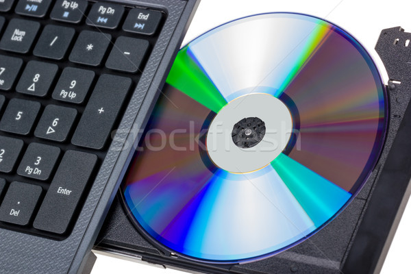 Electronic collection - Laptop with open DVD tray Stock photo © nemalo