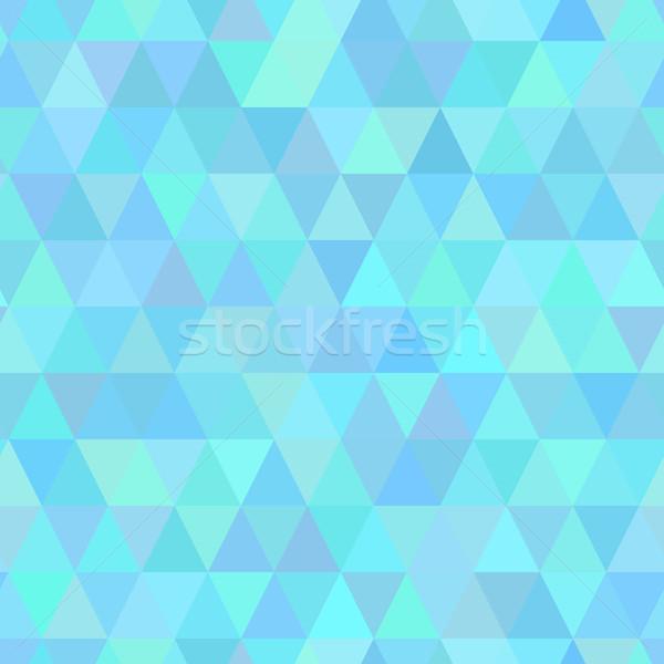 Absztrakt mértani háromszög végtelen minta szín mozaik Stock fotó © nemalo