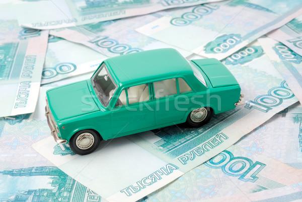 Stary samochód ceny streszczenie podpisania finansów Zdjęcia stock © nemalo