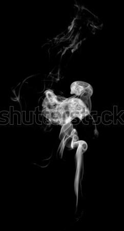 Abstrato fumar isolado preto arte onda Foto stock © nemalo