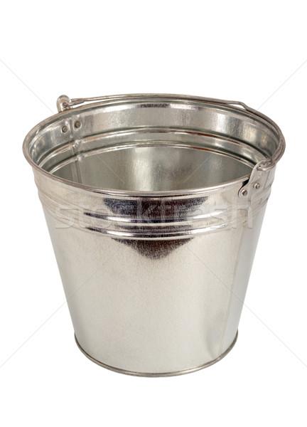 Cink fémes vödör izolált fehér retro Stock fotó © nemalo