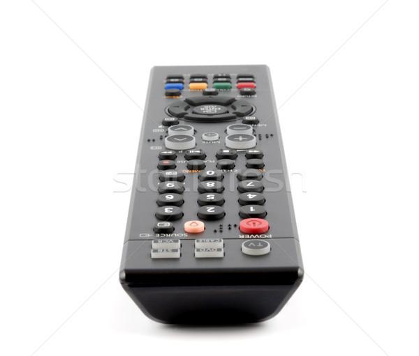 Távirányító panel fehér televízió billentyűzet videó Stock fotó © nemalo