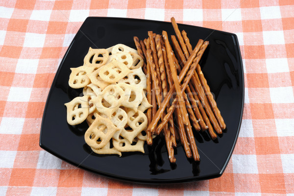 Crackers and salty sticks to beer Stock photo © nemalo