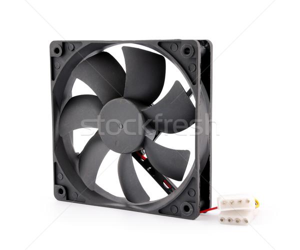 Computer fan geïsoleerd witte technologie achtergrond Stockfoto © nemalo