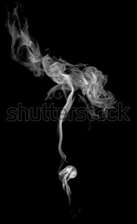 Absztrakt füst fény sötét tűz fekete Stock fotó © nemalo