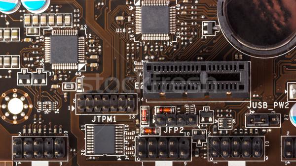 Elettronica raccolta digitale componenti computer elettronica Foto d'archivio © nemalo