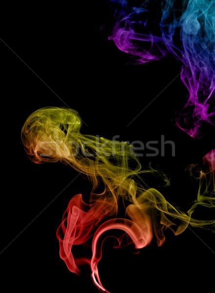 Abstrato fumar escuro arte preto Foto stock © nemalo