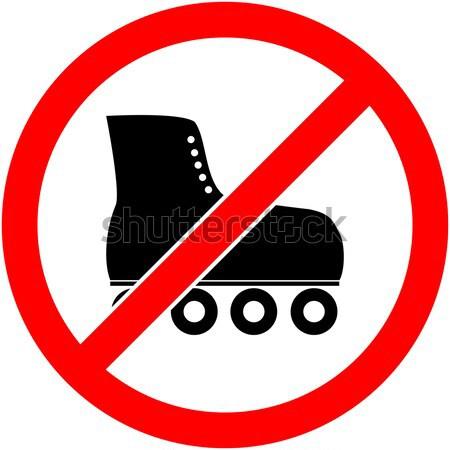 No skate, rollerskate prohibited symbol. Vector. Stock photo © nemalo