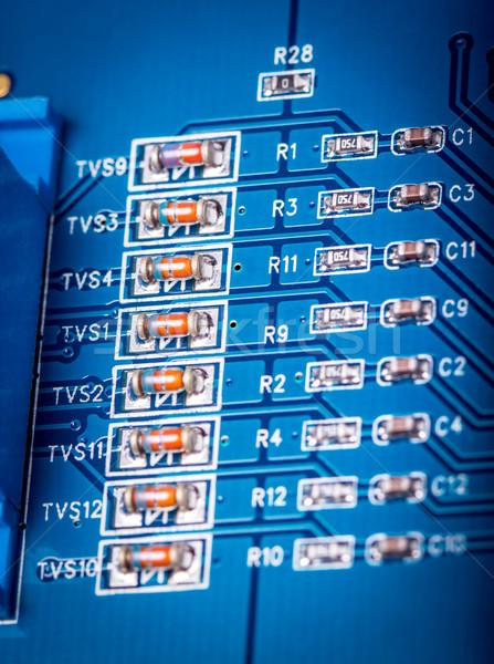 Elektronische collectie computer circuit board fragment ontwerp Stockfoto © nemalo