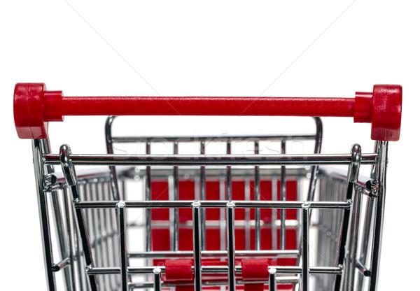 Winkelwagen lege geïsoleerd witte achtergrond winkel Stockfoto © nemalo