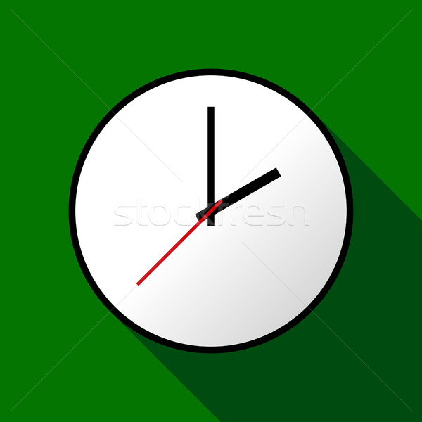 Stockfoto: Klok · icon · ontwerp · eps10 · gemakkelijk · groene