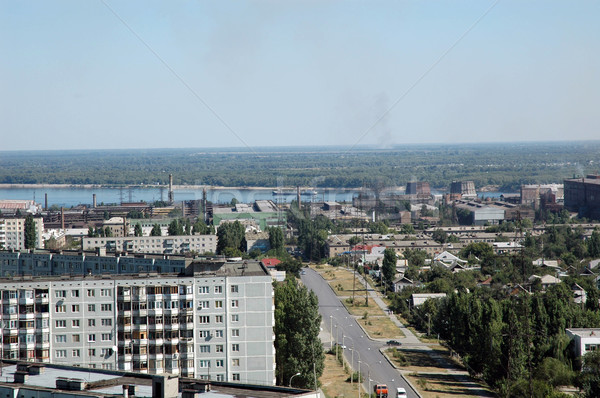 Russia. The city of Volgograd. A kind on city from height of the Stock photo © nemalo