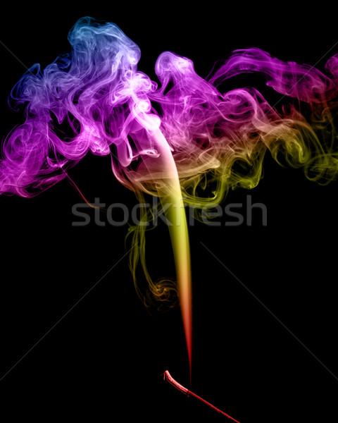 Absztrakt tarka füst sötét terv fekete Stock fotó © nemalo