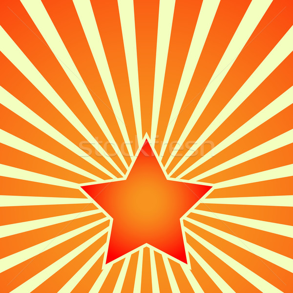 Victory Day Red Star on background of rays. Vector Stock photo © nemalo