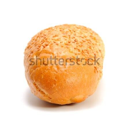 Francia kenyér mini francia kenyér szezámmag háttér kenyér Stock fotó © nemalo