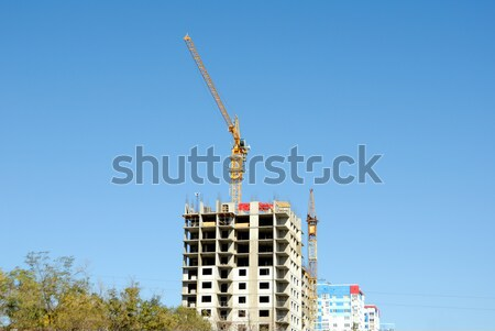 Construction of skyscrapers of the international business centre Stock photo © nemalo