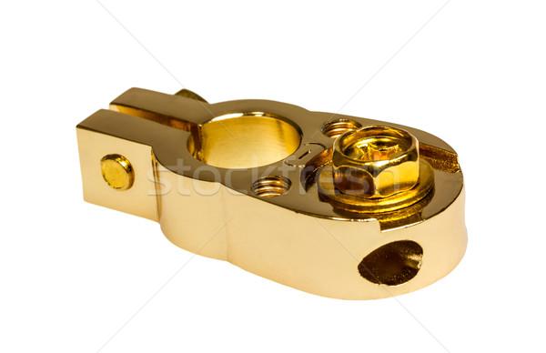 負 連絡 車 バッテリー 孤立した 白 ストックフォト © nemalo
