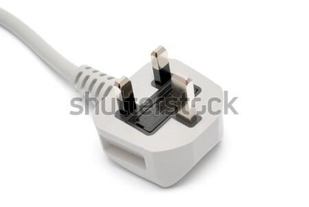 Elektrische plug geïsoleerd witte Stockfoto © nemalo
