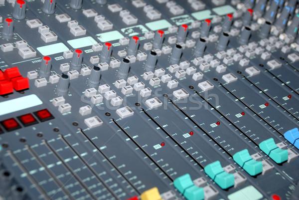 Sound mixing console Stock photo © nemalo