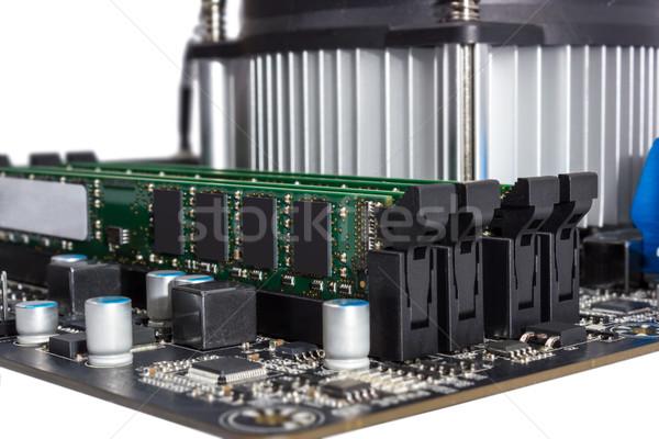 Electrónico colección ordenador placa CPU aislado Foto stock © nemalo