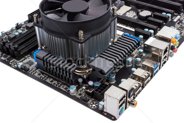 電子 コレクション コンピュータ マザーボード のCPU  孤立した ストックフォト © nemalo