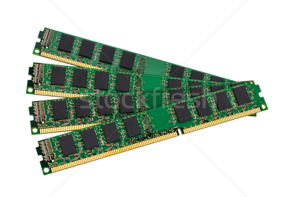 Electronic collection - computer random access memory (RAM) modu Stock photo © nemalo