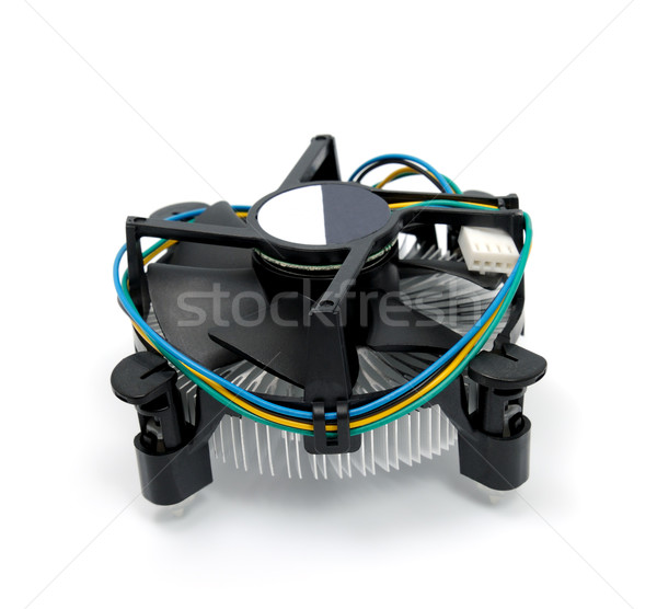 CPU aislado blanco ordenador tecnología negro Foto stock © nemalo