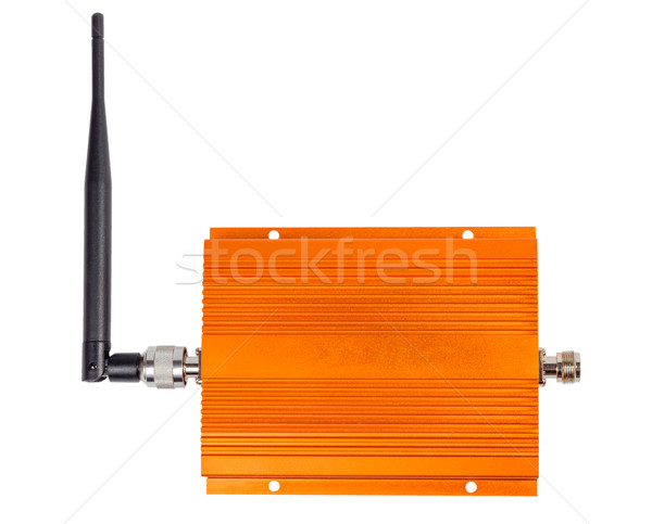 Amplifying signal repeater for GSM cellular phone Stock photo © nemalo