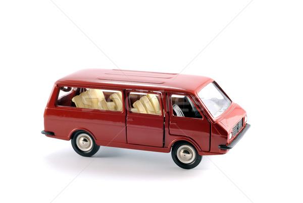 Minibus auto collectie schaal model licht Stockfoto © nemalo