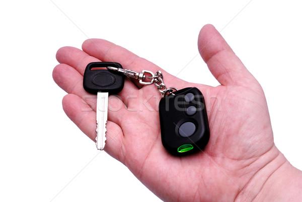 Kluczyki pilota alarm klucze płyta Zdjęcia stock © nemalo