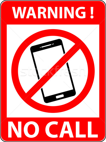 No phone, telephone prohibited symbol. Vector. Stock photo © nemalo