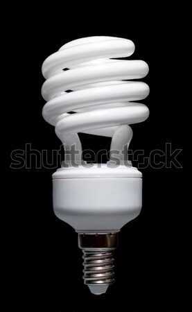 Zdjęcia stock: Energii · oszczędność · zwarty · fluorescencyjny · żarówka · spirali