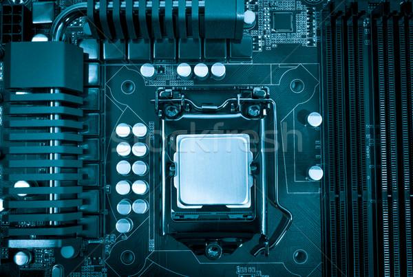 électronique ensemble pouvoir modernes processeur cpu Photo stock © nemalo
