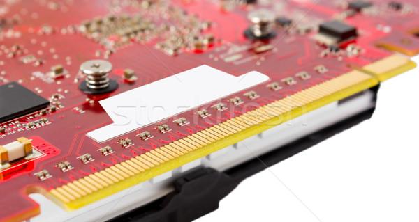 Electronic collection - PCI-e data connector videocard Stock photo © nemalo