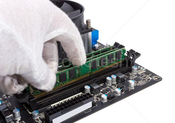 電子 コレクション メモリ モジュール スロット ストックフォト © nemalo