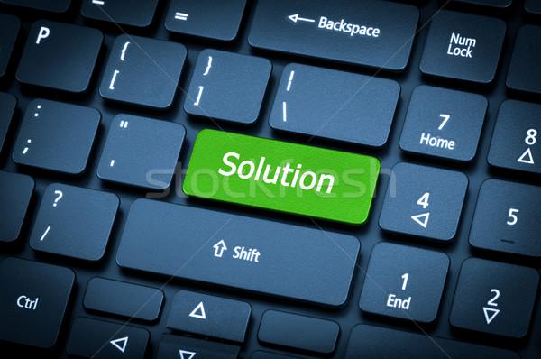 Foco solução chave computador Foto stock © nemalo