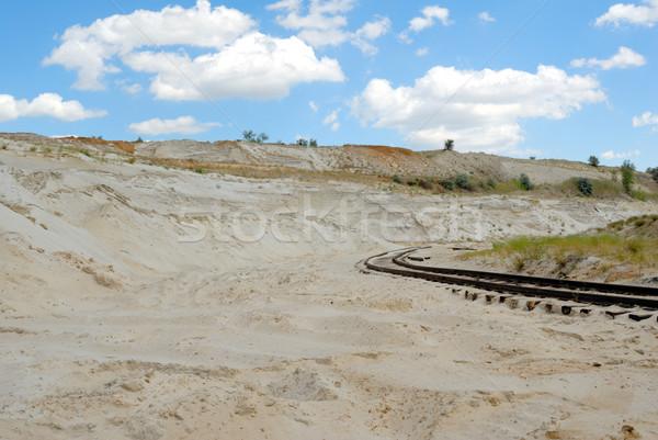 Old rusty railway Stock photo © nemalo