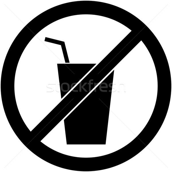 Geen drinken teken ontwerp verboden symbool Stockfoto © nemalo