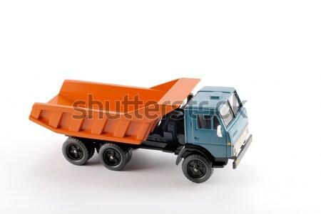Collectie schaal model vrachtwagen metaal basis Stockfoto © nemalo