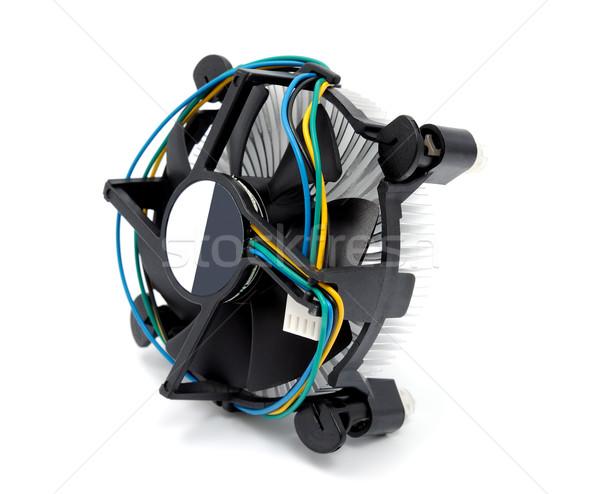 Cpu yalıtılmış beyaz bilgisayar teknoloji siyah Stok fotoğraf © nemalo