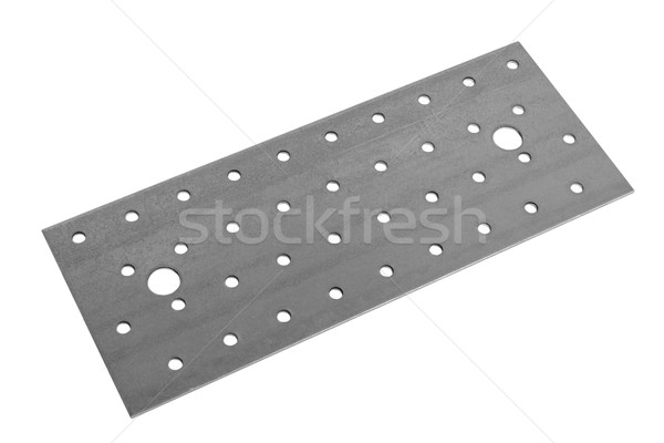 Metal sheet surface with holes Stock photo © nemalo